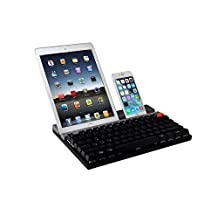 Bastron® Dual Model Wireless Bluetooth Mechanical Keyboard Mouse Combos,Flexible Shift Multi-connection for Computer,Tablet,iPad and Phones (Non-silence,Black)