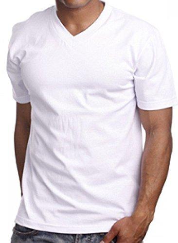 100% Cotton V-neck T-shirt 1st Quality. (L - 42