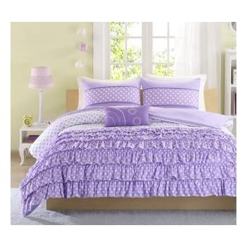 Mizone Girls 4 Piece Comforter Set   Purple. Full/queen Girls Comforter Sets
