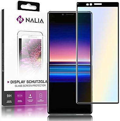 NALIA Cristal Templado Compatible con Sony Xperia 1, 9H HD Vidrio ...