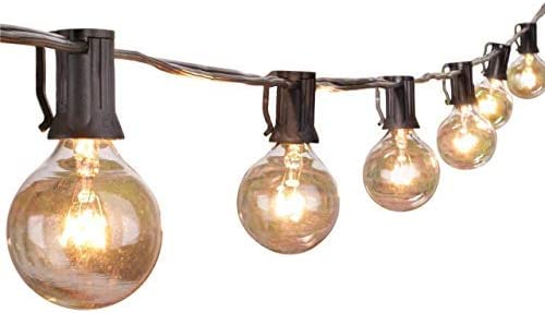 Patio String Lights Bulbs Outdoor Backyard Outside Hanging Bistro Cafe Globe