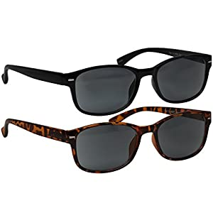 Black Tortoise Reading SunGlasses Always Have a Timeless Look, Crystal Clear Vision, Comfort Fit With Sure-Flex Spring Hinge Arms & Dura-Tight Screws 100% Guarantee +1.50