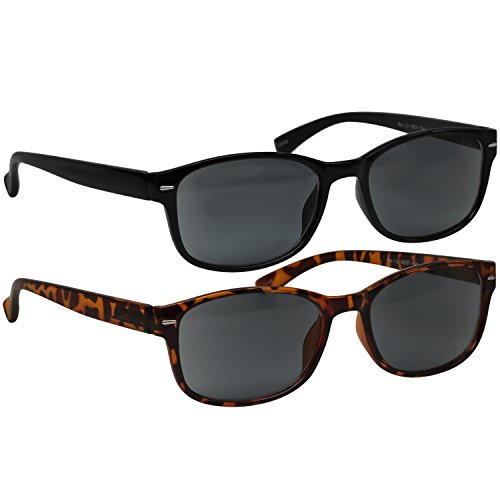 Black Tortoise Sun Reading Glasses 3.50 2 Pack Always Have a Timeless Look, Crystal Clear Vision, Comfort Fit with Sure-Flex Spring Hinge Arms & Dura-Tight Screws