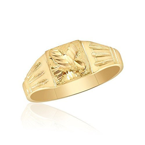 10K Yellow Gold Men's Eagle Ring by Ice Gold Jewellery Inc