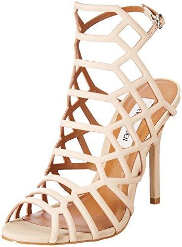 Steve Madden Women's Slithur Dress Sandal, Blush Nubuck, 10 M US ()