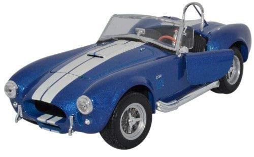 Welly Nex Diecast Model - 1965 Shelby Cobra 427 SC Blue Car - 1:24 Scale - 24002