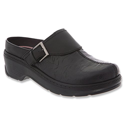 Klogs USA Women's Austin Mule,Black Flower Tool,7.5 W US by Klogs
