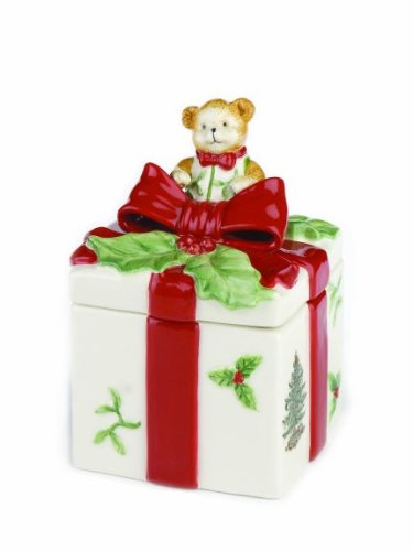 Spode Christmas Tree Bear Covered Box