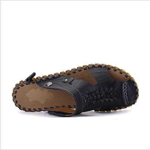 Freddi 26 da 0 Sport pantofole CM spiaggia 24 5 Uomo Scarpe E Nero In Pelle Aperta Antiscivolo Wagsiyi All'aria Pantofole Traspiranti Per zIHw66qxZ