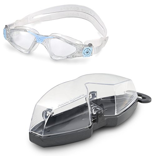 Aqua Sphere Kayenne Ladies Swimming Goggle with Clear Lens, Clear & Blue UV Protection Anti Fog Swim Goggles for Women by Aqua Sphere (Image #5)