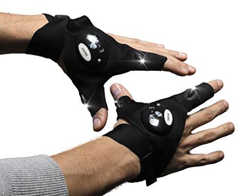Mechanics Gloves With Led Lights - 3