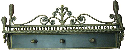 (Spice Islands Victorian Coat Rack, Brown Wash)