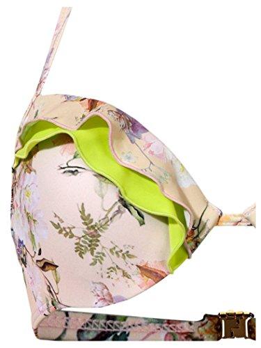 Heine Damen Softcup Bikini mit Rüschen geblümt Cup B + C