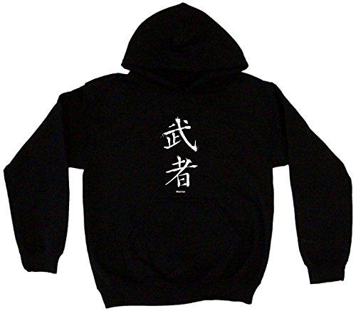 Warrior Japanese Symbol Men's Hoodie Sweat Shirt XXXXL , Bla