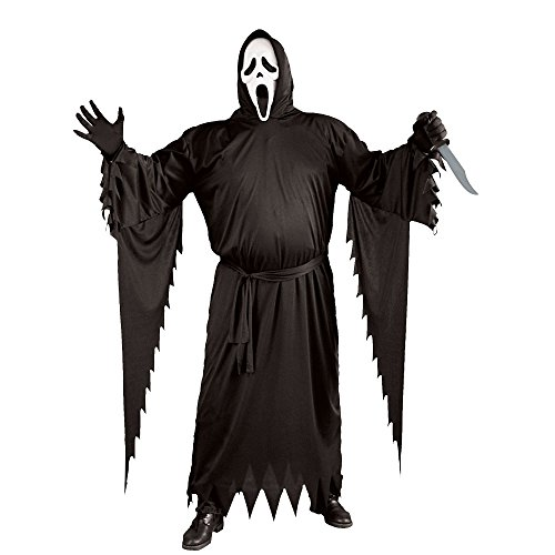 FunWorld  Adult Plus Scream Costume, Black, One Size]()