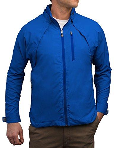 (SCOTTeVEST Tropiformer Jacket - 22 Pockets - Convertible, Travel Clothing BLU L)