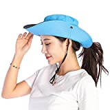 VICSPORT Women Sun Hat Wide Brim Bucket Mesh Boonie Cap Outdoor Fishing Hats UV Protection