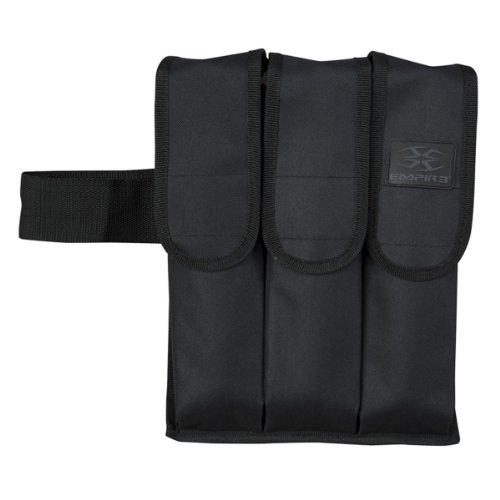 Empire Paintball 3 Pod Paintball Pouch, Black by Empire Paintball