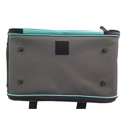Stoga suavidad portable para mascotas caras viaje del perro portador de gato portador de tela Oxford bolsa de asas del bolso hogar perfecto para cachorros Perros Gatos-Azul Azul
