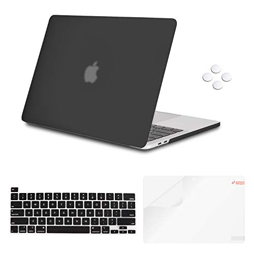 iCasso MacBook Pro 16 Inch Case 2019 Release A2141, Ultra Slim Protective Plastic Hard Shell Case with Keyboard Cover Skin & Screen Protector for Newest Mac Pro 16'' with Touch Bar & Touch ID - Black