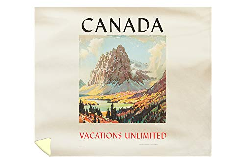 Canada - Vacations Unlimited Vintage Poster (Artist: Leighton) Canada c. 1934 61321 (88x104 King Microfiber Duvet Cover)
