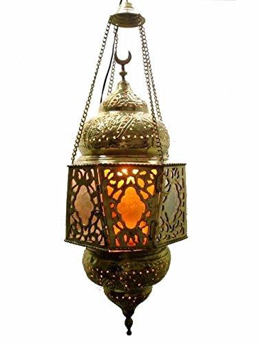 Egyptian Brass Pendant Light in US - 7