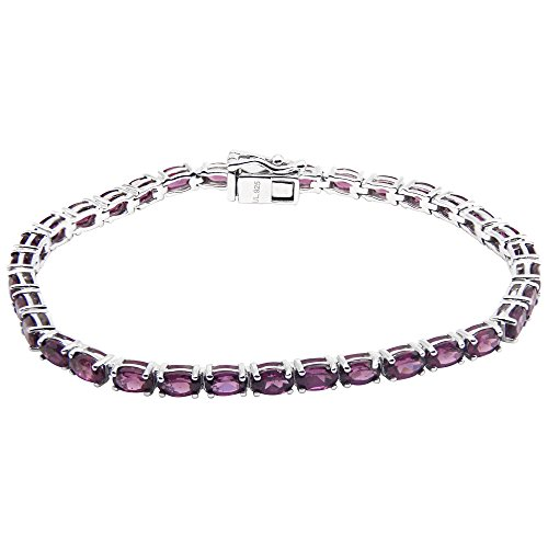 UP LINK Women's Amethyst Rhodium Plated Bracelets Purple by UP LINK
