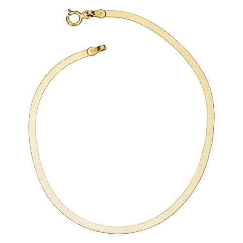 10k Yellow Gold Herringbone Bracelet (2.2mm , 7.5 inch)