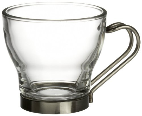 Bormioli Rocco Verdi Espresso Cup With Stainless Steel Handle, Set of 8, Gift - Cups Rocco Espresso Bormioli