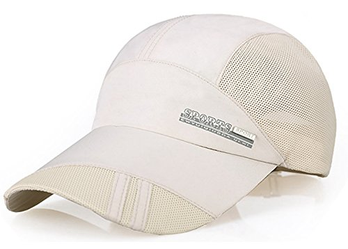Baseball Cap Quick Dry Mesh Back Cooling Sun Hats Sports Caps for Golf Cycling Running - Sports Sun Uk