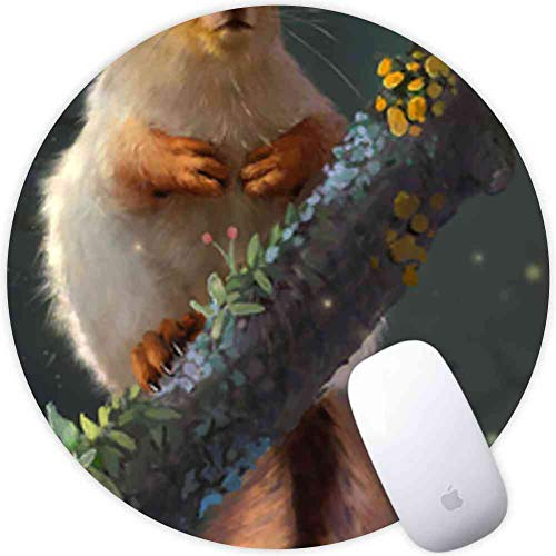 Computer Game Square Round Mouse Pad Long-Eared Squirrel Long-Eared Squirrel Squirrel Cartoon Mouse Funny Rat Animal Drawing Smooth Light Skid Proof Rubber Cute]()