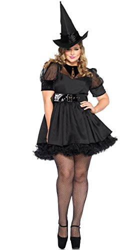 Leg Avenue Women's Plus-Size Bewitching Witch Costume, Black, 3X -