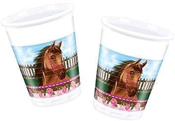 PROCOS Juego de tazas de * caballo * DE 8 piezas para Fiesta ...