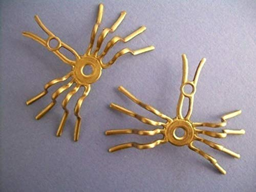 (4 Spiders - Settings - Raw Brass Steampunk Pendant)