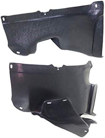 Partomotive For 12-15 VW Passat Front Splash Shield Inner Fender Liner Panel Left Right SET PAIR