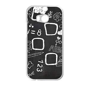 Creative blackboard Cell Phone Case For HTC M8 wangjiang maoyi by lolosakes