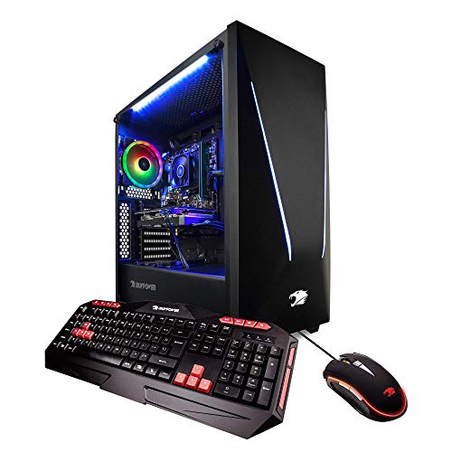 (iBUYPOWER Pro Gaming PC Computer DesktopTrace 92060 (Intel i7-8700 3.20GHz, NVIDIA GeForce RTX 2060 6GB, 16GB DDR4-2666 RAM, 1TB HDD, 240GB SSD, WiFi Included, Win 10 Home, VR Ready), Black)