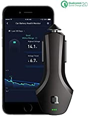 nonda ZUS Smart Car Charger Quick Charge 36W, Car Charger to Save Car's Location and Monitor Car Battery, Dual USB Car Charger with 2 Reversible USB Ports and Led for iPhone XS/Max/XR/X/8/7/6/Plus