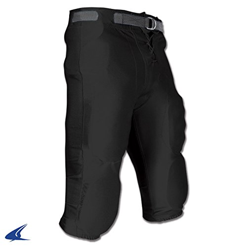 Adult Football Game Pants - CHAMPRO Adult Stretch Dazzle Football Pants Black Medium