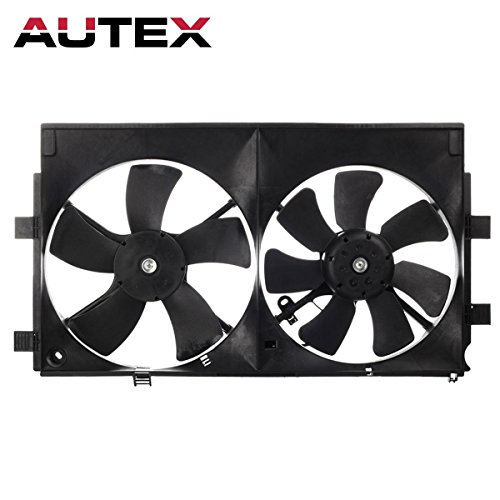 AUTEX MI3115139 Dual Radiator Condenser Cooling Fan Motor Assembly for 2008-2015 Mitsubishi Lancer L4 2.0L 2.4L (Mitsubishi Lancer Radiator compare prices)