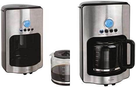 Cafetera eléctrica con jarra de cristal 1,8 litros temporizador ...