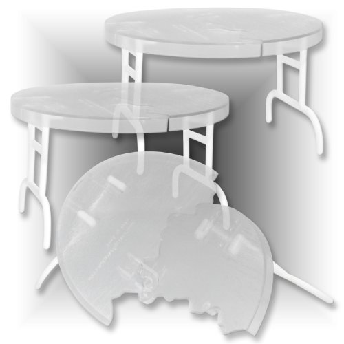 Set of 3 Clear See Through Break Away Round Tables for WWE Wrestling figures