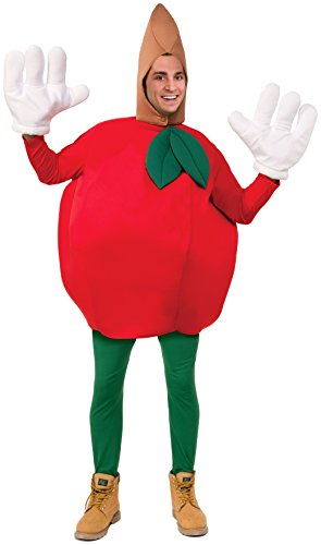 Forum Novelties Apple Costume, Red, (Pear Costumes For Adults)