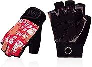 Vgo 1 Pair Kids/Juniors Half-Finger Breathable Climbing Gloves Outdoor Adventure Gloves with Anti-Slip Padding