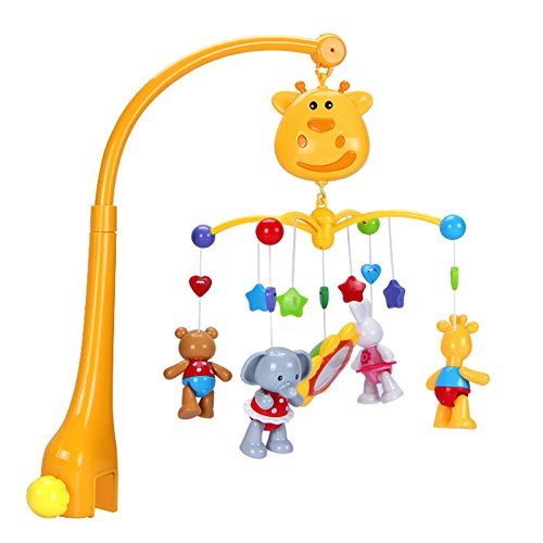 Baby Musical Mobiles Crib Toys - INvench Safety Animal Bed Bell Toys with Music Sound Rotation for Infant Toddler