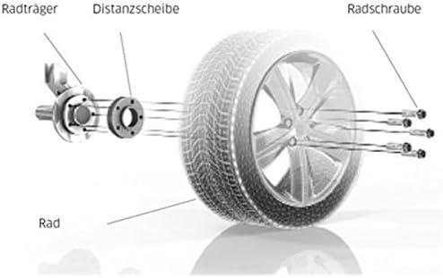 TuningHeads//H/&R 478088.DK.B2055573A-B3055571 Spurverbreiterung Blackline VA 20 mm//HA 30 mm Radschrauben