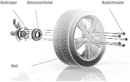 H R Tuningheads 0478297 Dk B3075650 Bus T5 Spurverbreiterung Blackline 30 Mm Achse Radschrauben 30 Mm Achse Auto