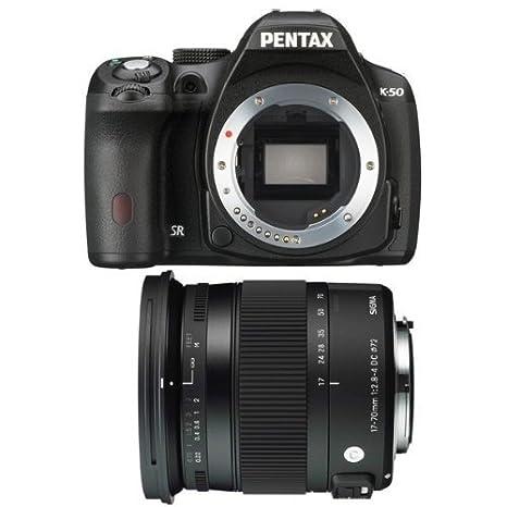 Pentax K-50 + Sigma 17-70 Contemporary Juego de cámara SLR 16.28MP ...