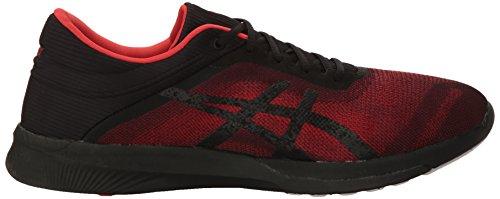 Asics Mens FuzeX Rush Shoes Vermilion/Black/White jLCkC