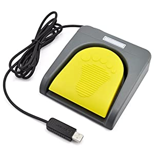 iKKEGOL USB Single Foot Switch Control One Key Customized Computer Keyboard Action Pedal HID